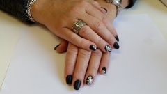 Gel color mat met nail fashion sticker