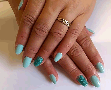 Green Mint Magic Nailart by Kat's Nails