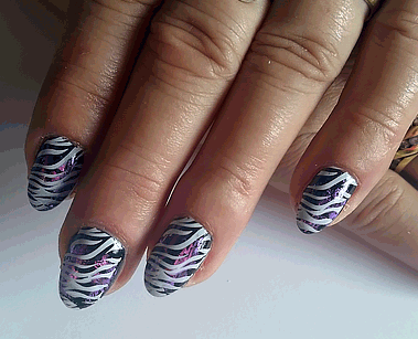 Zebra Nailart Nagelstudio Kat's Nails