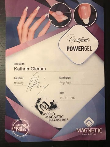 certificaat powergel kat's nails